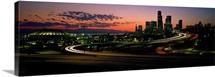 Sunset Puget Sound & Seattle skyline WA