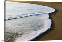 Surf on sandy beach, Outer Banks, North Carolina