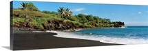 Surf on the beach, Black Sand Beach, Maui, Hawaii