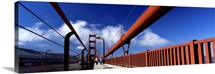 Tourist Walking On A Bridge, Golden Gate Bridge, San Francisco, California