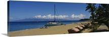 Tourists on the beach, Black Rock, Kaanapali Beach, Maui, Hawaii