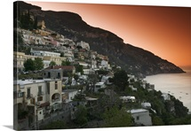 Town on the hillside, Positano, Salerno, Campania, Italy