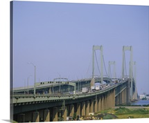 Traffic on a bridge, Delaware Memorial Bridge, Delaware River, Delaware