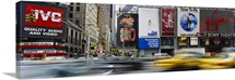 Traffic on a street, Times Square, Manhattan, New York City, New York State