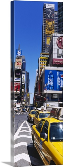 Traffic on a street, Times Square, Manhattan, New York City, New York State