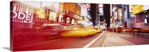 Traffic on the road, Times Square, Manhattan, New York City, New York State
