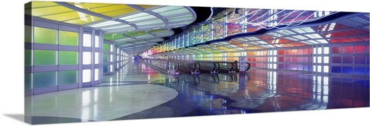 United Airlines Terminal Passageway O'Hare Airport Chicago IL