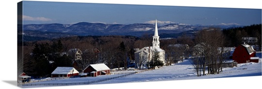 Vermont, Peacham, winter