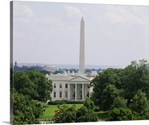 View of the White House and Washington Monument, Washington DC