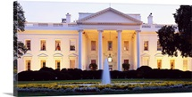 Washington DC, White House, twilight