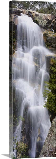 Waterfall in a forest, Gibraltar Falls, Canberra, Australia