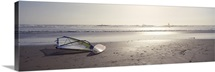 Windsurfing board on the beach, Jalama Beach, California,
