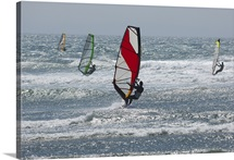 windsurfing in the ocean, Meyers Beach, Meyers Creek, Gold Beach, Oregon