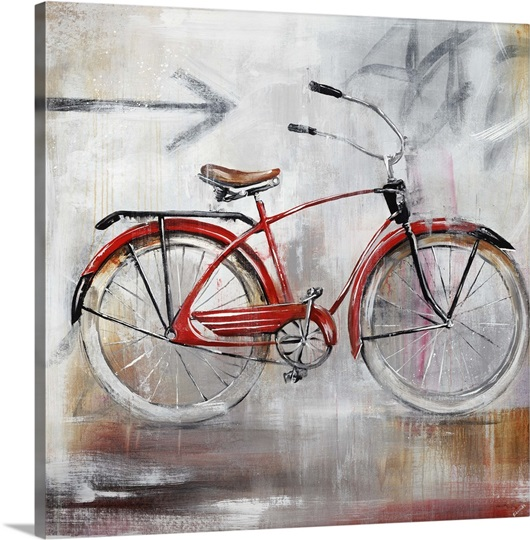 bicycle lane photo canvas print great big canvas. Black Bedroom Furniture Sets. Home Design Ideas