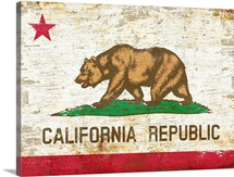 Distressed California State Bear Flag