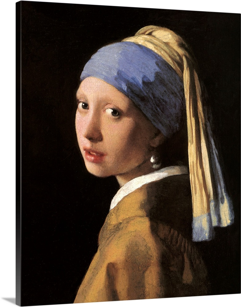 Girl with a pearl earring great big canvas for Johannes vermeer girl with a pearl earring