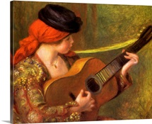 Young Spanish Woman with a Guitar