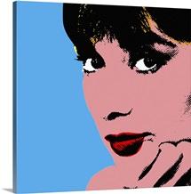 Audrey Hepburn Blue Dots