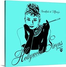 Audrey Hepburn Breakfast at Tiffanys Teal 1