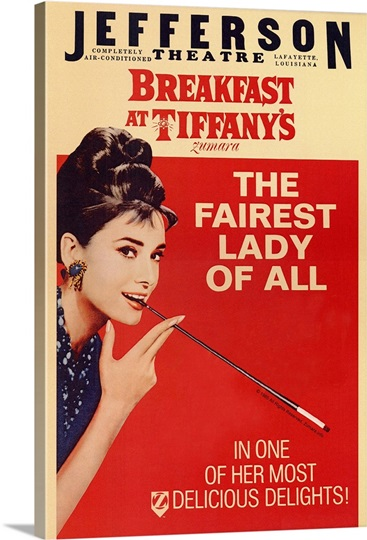 Audrey Hepburn Breakfast Tiffanys 2 Red