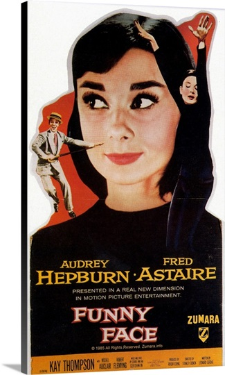 Audrey Hepburn Funny Face Big Head Poster