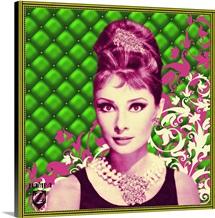 Audrey Hepburn Padded Floral Green/Pink