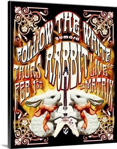 Jefferson Airplane White Rabbit Poster Photo Canvas Print