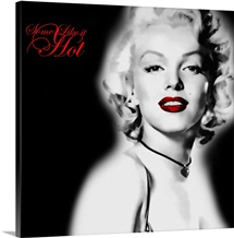 Marilyn Monroe Blackout with Red Text 1