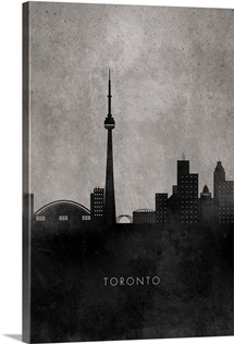 Black and White Minimalist Toronto Skyline
