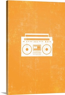 Boombox silhouette art