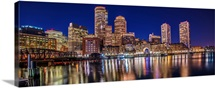 Boston City Skyline at Night
