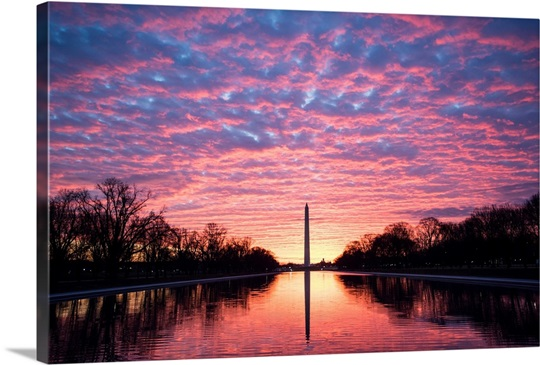 Dramatic Sunset over the Washington Monument, Washington, DC