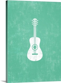 Guitar silhouette art