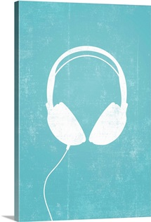 Headphones silhouette art