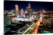 Indianapolis, Indiana, at Night