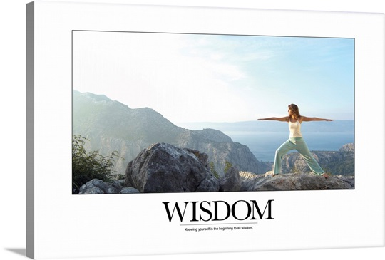 Inspirational Poster: Knowing yourself is the beginning to all wisdom