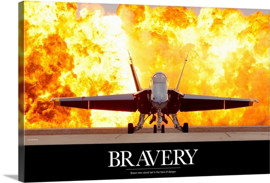 Military Motivational Poster: Brave Men