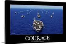 Military Poster: Aircraft carrier USS Ronald Reagan transits the Pacific Ocean