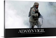 Military Poster: Always vigilant