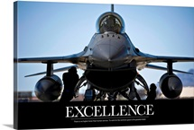 Motivational Poster: Air Force Poster: U.S. Air Force crew chiefs do pre-flight checks