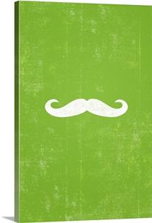Mustache silhouette art