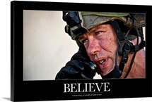 US Army Poster: Believe