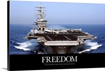 US Navy Poster: USS Dwight D. Eisenhower