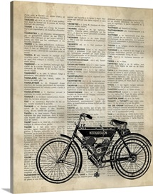 Vintage Dictionary Art: Motorcycle