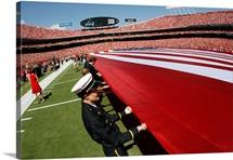 A Flag Spans Arrowhead Stadium