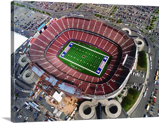 Aerial View of Giants Stadium