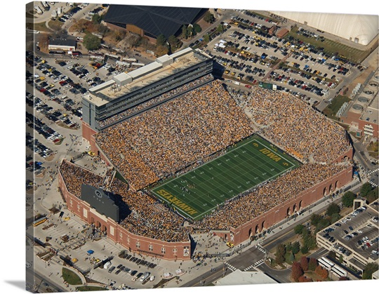 Aerial View of Kinnick Stadium Photo Canvas Print | Great Big Canvas: www.greatbigcanvas.com/view/aerial-view-of-kinnick-stadium,rp0330216