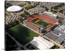 Aerial View of Memorial Stadium and Assembly Hall