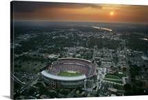 Alabama Photographs Stadium Aerial at Sunset