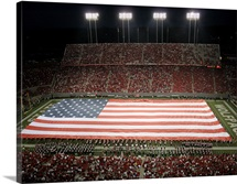 American Flag at Carter Finley Stadium